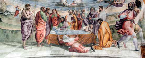 Jacopo Siculo, Dormitio Virginis, 1536 - Vallo di Nera, Chiesa di san Giovanni Battista